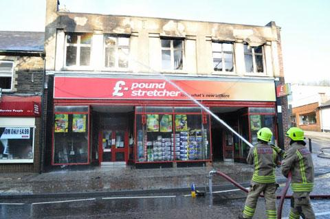 GUTTED: The previous Poundstretcher shop in Blackwood