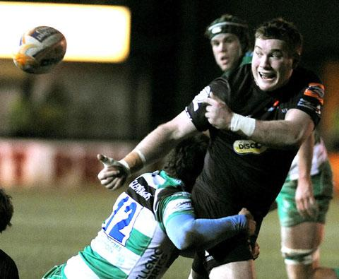 PROP IDOL: Hugh Gustafson has not played at loosehead for the Dragons since 2011 after being converted into a hooker