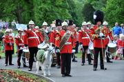 Taffy on parade with the Royal Welsh