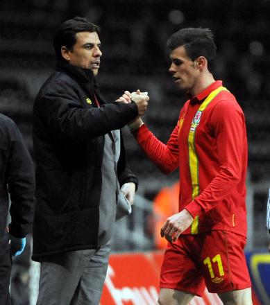 DUTCH DATE: Wales boss Chris Coleman and star man Gareth Bale