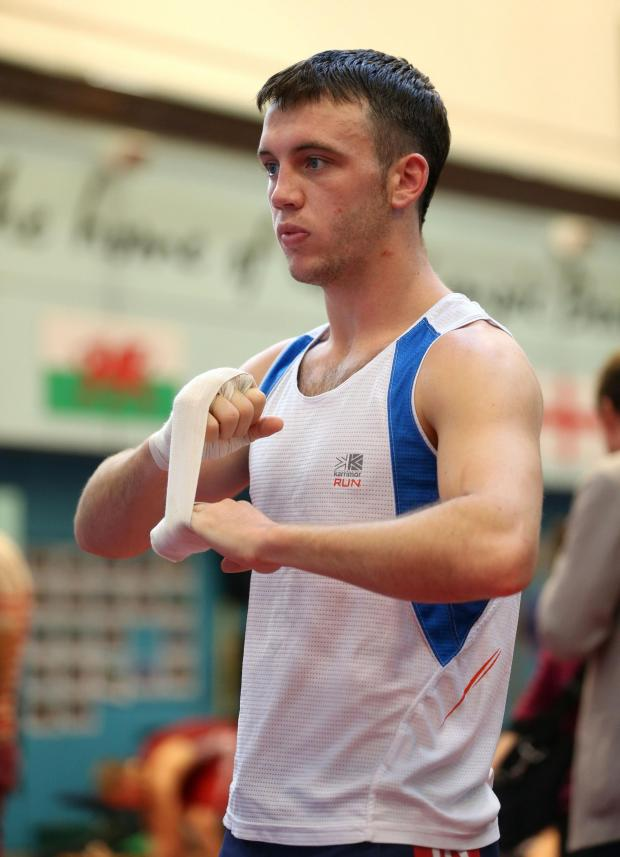 Campaign Series: AVAILABLE: Fred Evans, seen here training with Team GB in Sheffield, could represent Wales at Glasgow 2014