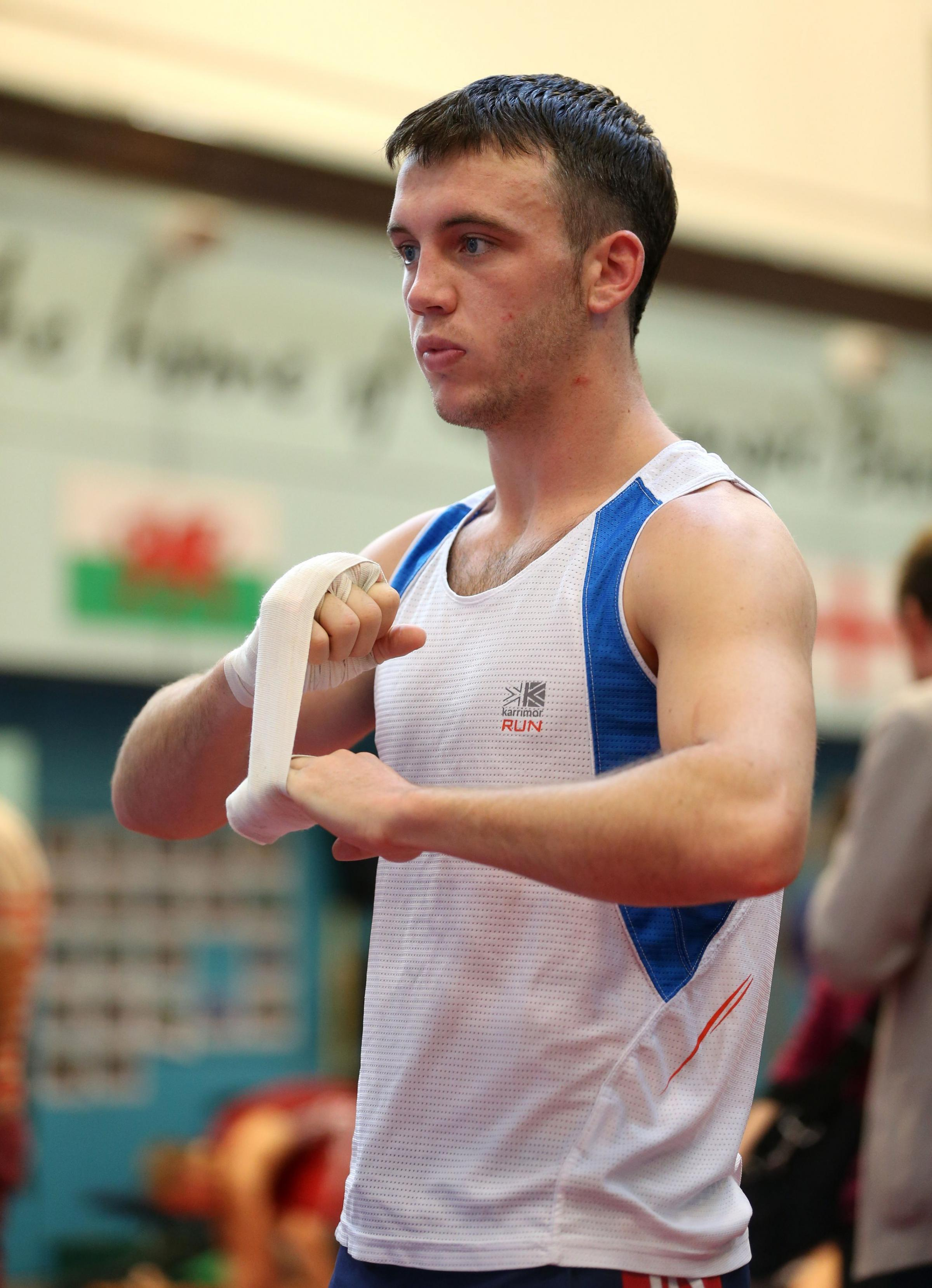 AVAILABLE: Fred Evans, seen here training with Team GB in Sheffield, could represent Wales at Glasgow 2014