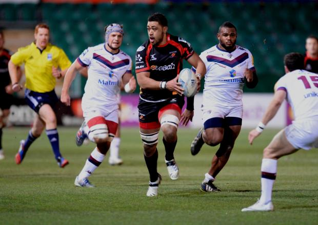 SUPERB PERFORMANCE: Dragons number eight Toby Faletau played his part in an excellent team display