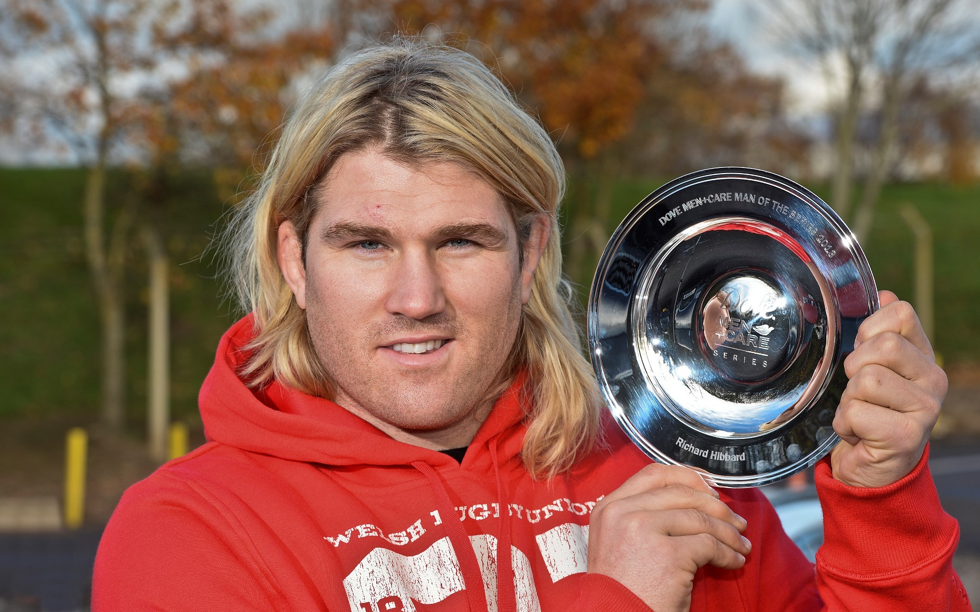 WINNER: Richard Hibbard with his man of the series trophy