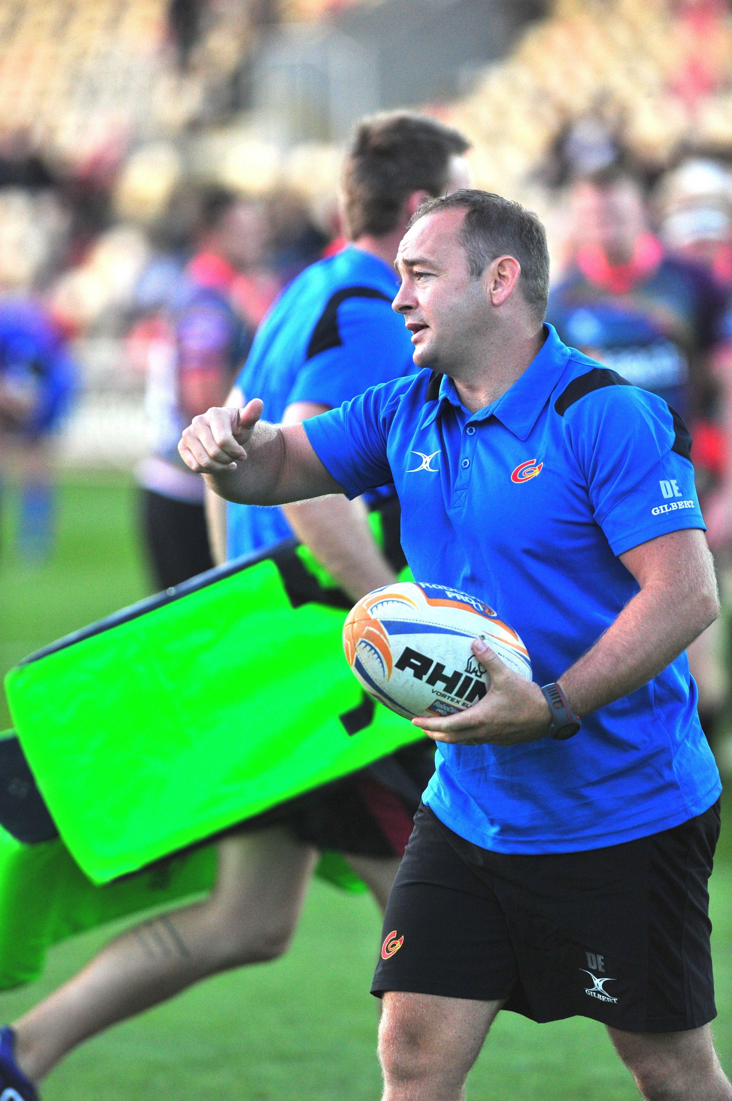 RALLYING CALL: Newport Gwent Dragons head coach Darren Edwards
