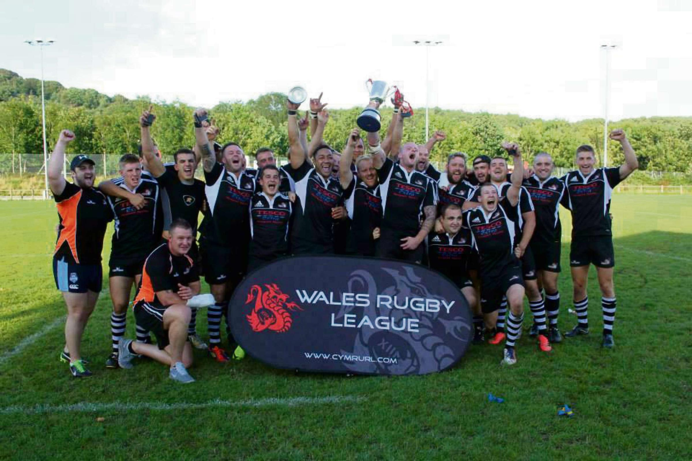 READY FOR BATTLE: The Torfaen Tigers squad are preparing for their Challenge Cup debut