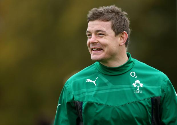 Ireland's Brian O'Driscoll during a training session at Carton House, Co. Kildare. Picture date: Tuesday November 5, 2013. See PA Story RUGBYU Ireland. Photo credit should read: Brian Lawless/PA Wire. RESTRICTIONS: Use subject to restrictions. Edi