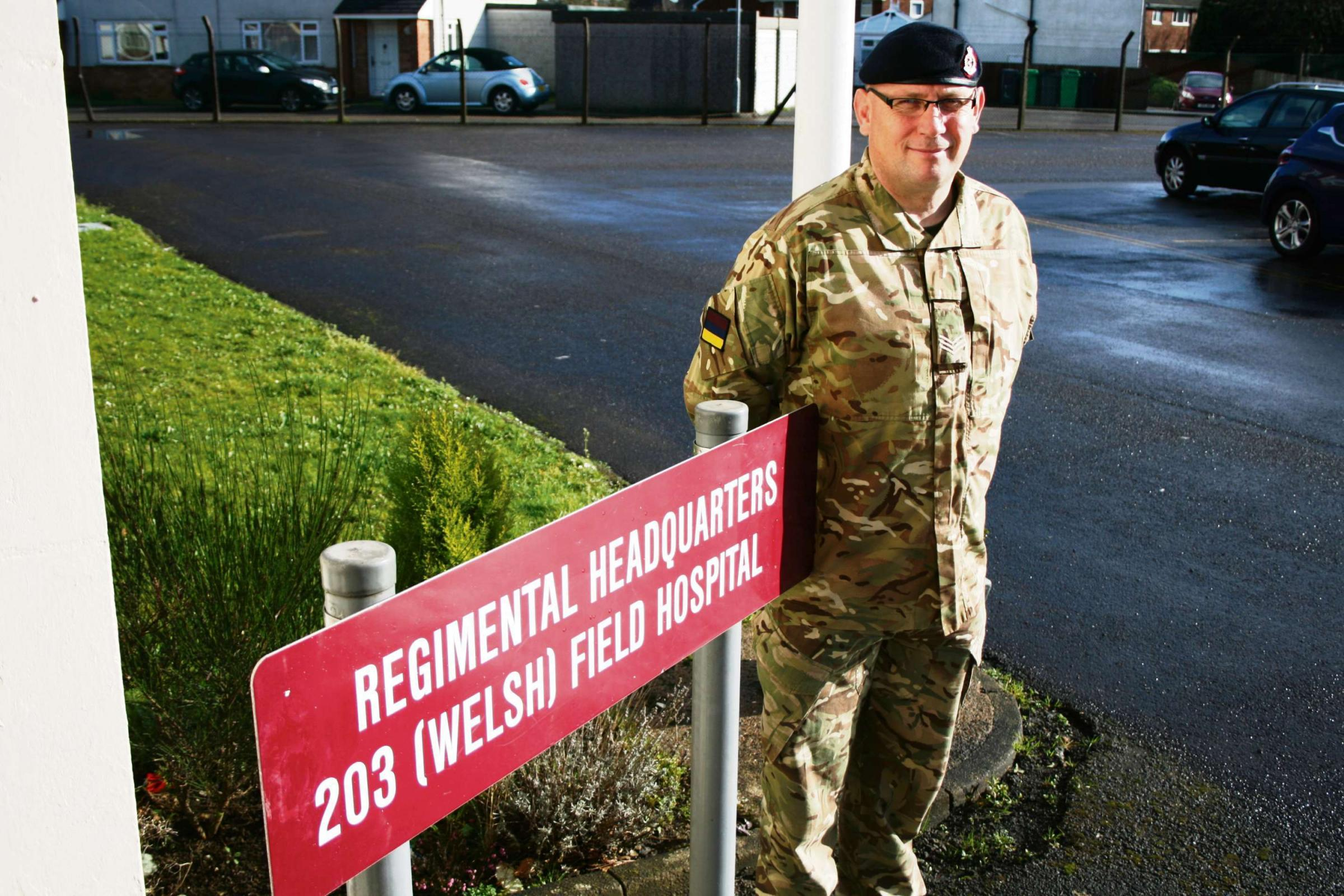 MEDICS: 203 (Welsh) Field Hospital combat medical technician Sergeant Nigel Smith from Aberbargoed.