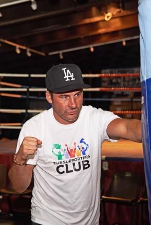 PUNCH: Joe Calzaghe supporting the Newport projects