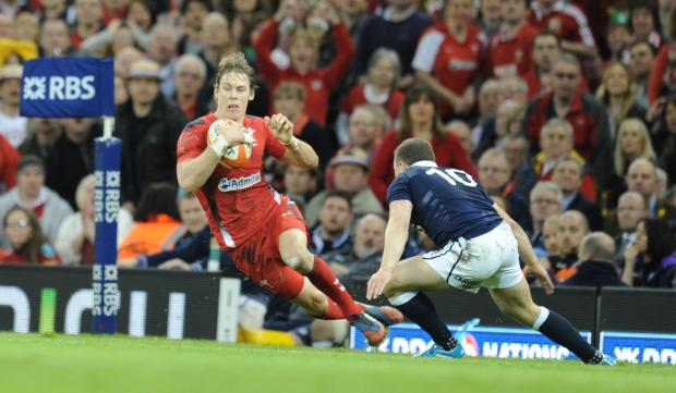 STAR MAN: Liam Williams beats Duncan Weir. Picture: Mark Lewis