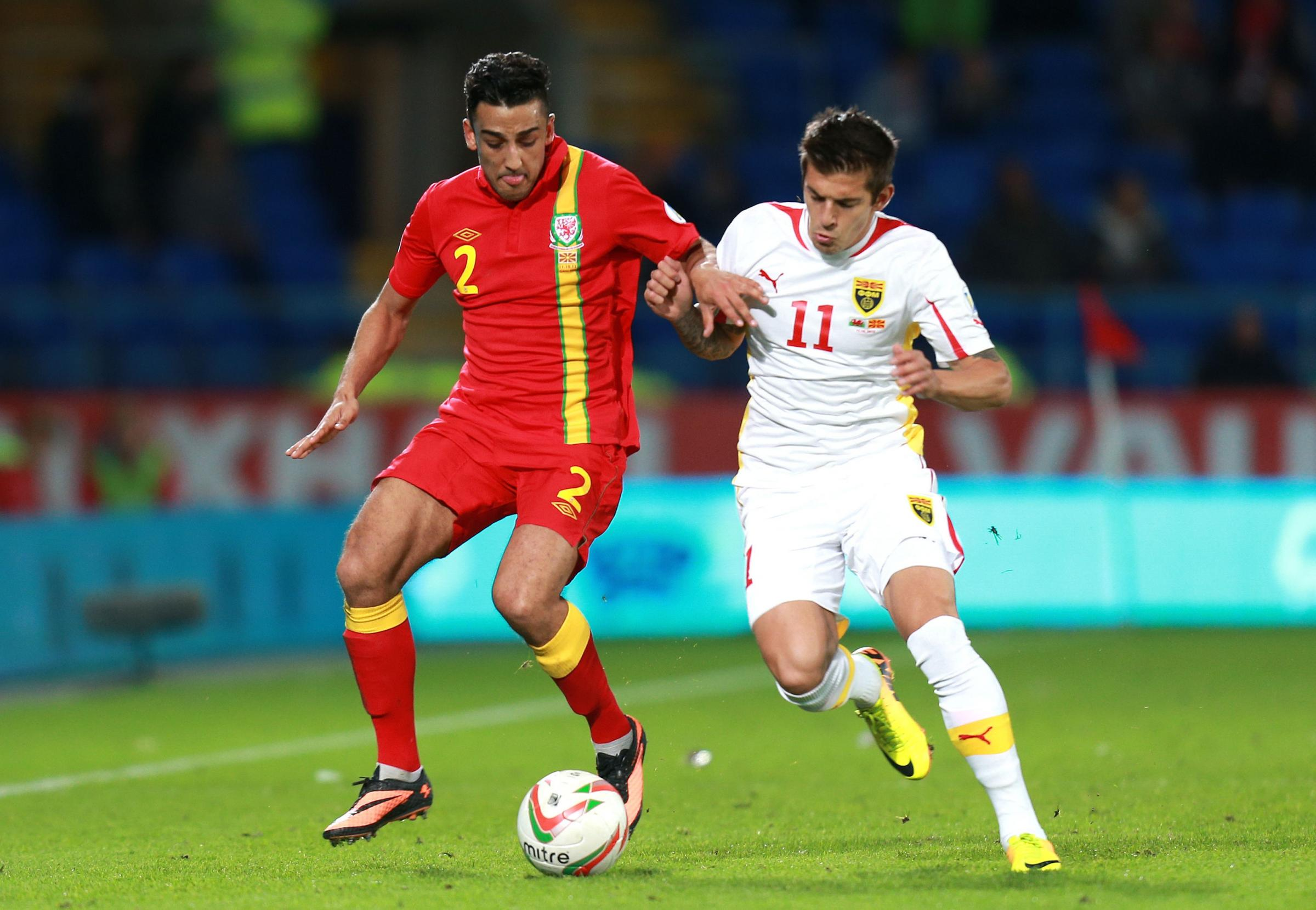 ASIAN STAR: Wales defender Neil Taylor in action against Macedonia last year