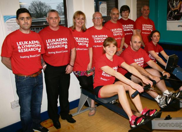OARS READY: Supporters and rowers Neil Williams, Paul Williams, Kate Giles, Gareth Moseley, Steve Card, Michael Layland, Colin Barnes, Helen Lodder, Simon Clarke and Genine Meek(5609872)