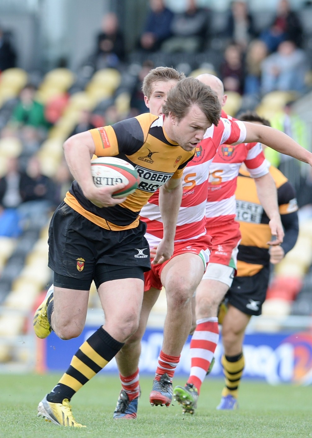 FINE GAME: Newport man of the match Geraint O'Driscoll in action against Llandovery