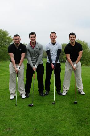 THE SPORT CAERPHILLY TEAM: (From left to right) Jon Hughes, Elliot Williams, Sean Davies and Michael Jones.