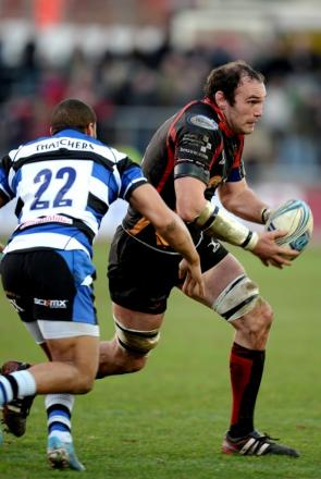 LAST HURRAH: Dragons Rob Sidoli on the attack