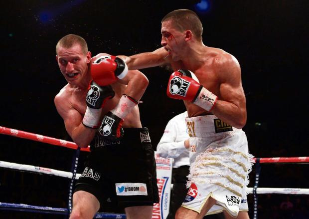 WARNING: Lee Selby, right, is facing a tough challenge from Mexican Romulo Koasicha on Saturday