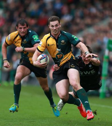 George North starts as Northampton bring the big guns to Ebbw Vale