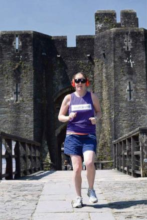 BRAVE RUNNER: Laura Lees will take part in the Caerphilly 10k with only pinpoint vision and minimal hearing