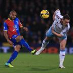 Campaign Series: Crystal Palace's Danny Gabbidon (left) is challenged by West Ham United's Kevin Nolan during the Barclays Premier League match at Selhurst Park, London. PRESS ASSOCIATION Photo. Picture date: Tuesday December 3, 2013. Photo credit should read: Nic