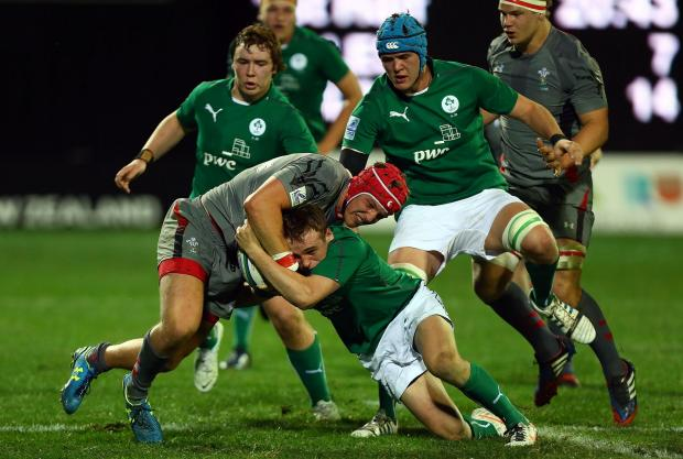TRY SCORER: Dragons wing Tyler Morgan crossed for a try but Wales U20s were downed by their Irish counterparts