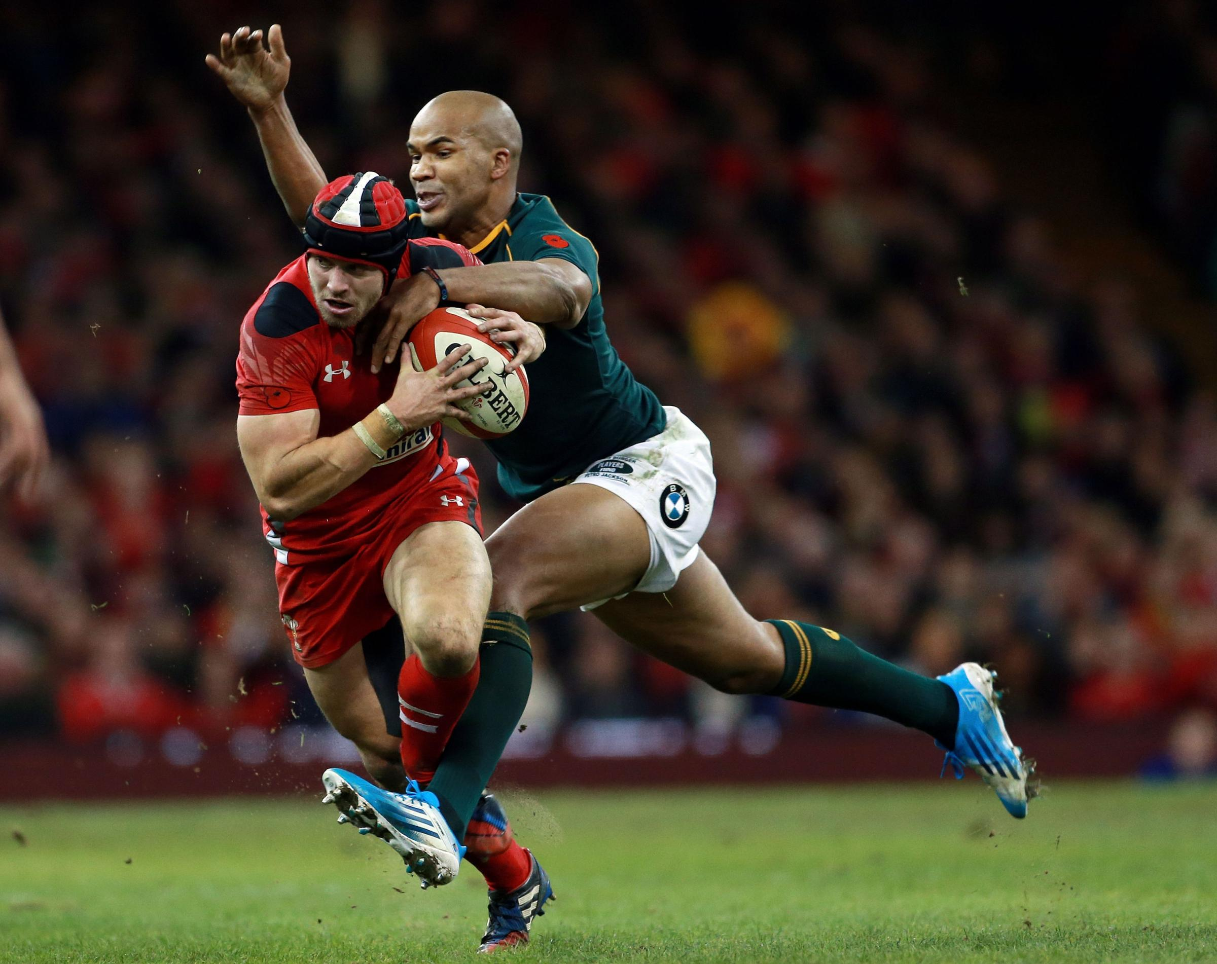 ON THE MOVE: JP Pietersen played on the wing for South Africa against Wales last autumn but will be in midfield this weekend