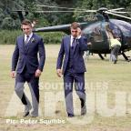 Campaign Series: Aaron Ramsey arrives for his wedding at Caldicot Castle. Pic: Peter Squibbs