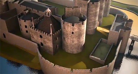 Video brings Caerphilly Castle back to life
