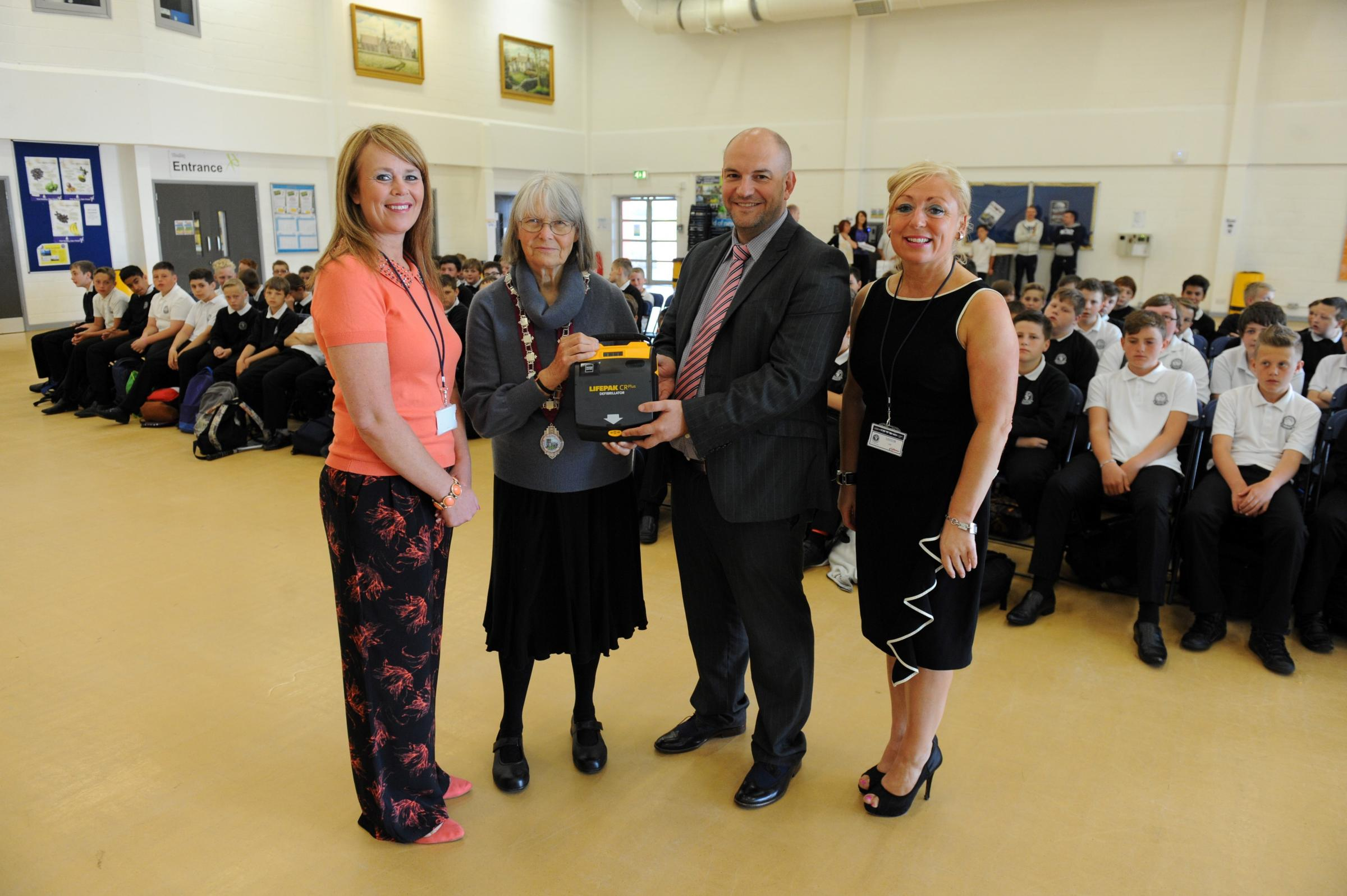 Life-saving device arrives at Pengam school