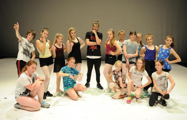 Campaign Series: Ballet Cymru are in rehearsals for a Summer of dance at The Riverfront.  Pictured centre is dance choreographer Jamie Wall with his 13+ age group dance performers. (8432836)