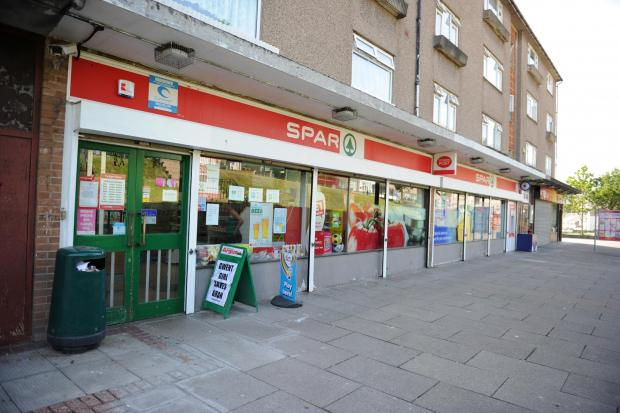 Pictured is the Spar shop on Elm Drive, Ty Sign, Risca where armed police were called following reports of a man seen wielding a knife. (8584763)