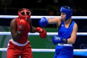 Bargoed's Lauren Price cruises through first bout