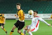 STAR MAN: Aaron Collins in action against MK Dons on Tuesday
