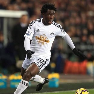 STAR: Wilfried Bony is a free agent after being released by Swansea City in the summer