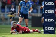 REMARKABLE RUGBY: Wales crossed for seven of their eight tries in the second half with wing George North bagging a hat-trick