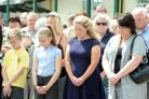 The Minute's silence at the Dragons Circle to remember the 30 British victims, including Blackwood's Trudy Jones (30958944)
