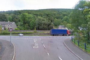 Crash causes delays on A467