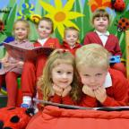 Campaign Series: Georgetown Primary school of the week. Alys-Marie Hawkins-Price and Tommy Burke in the nursery reading group