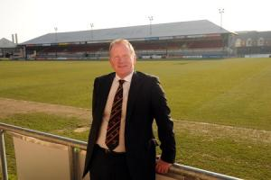 HISTORIC HOME: Dragons and Newport chief executive Stuart Davies pictured at Rodney Parade in 2015