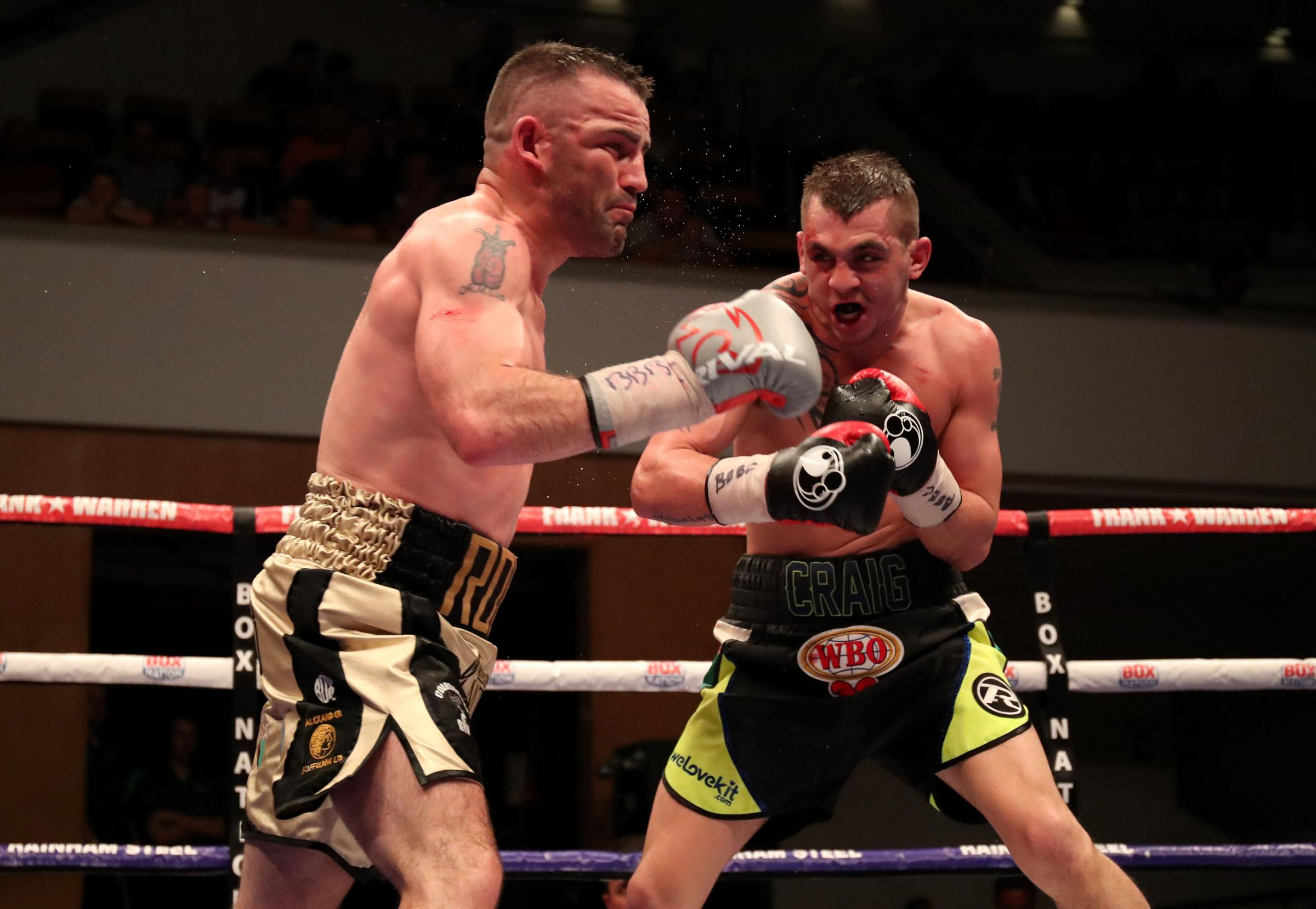 HIGH HOPES: Craig Evans (right) defended his European title against Stephen Ormond in June. Picture: Niall Carson