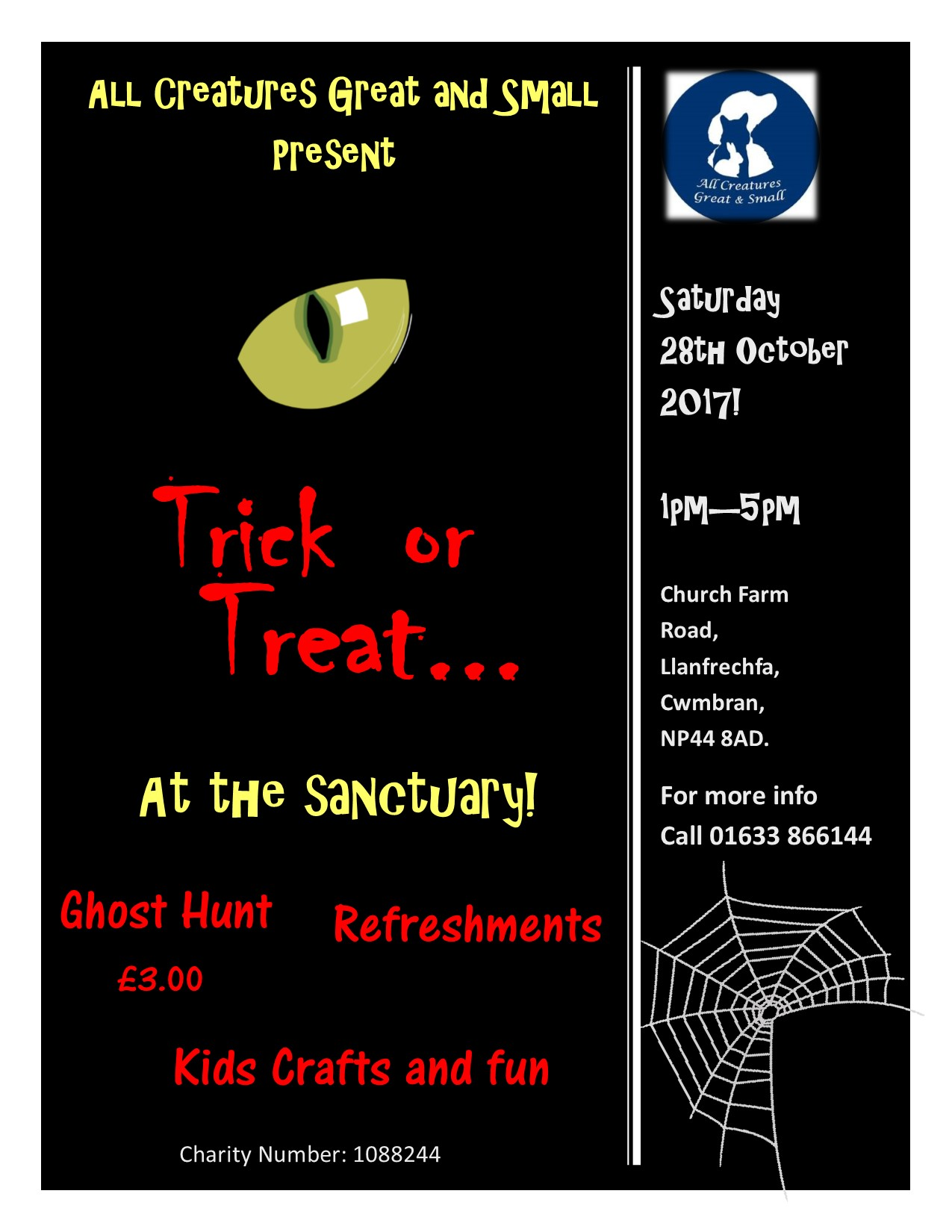 Trick or Treat at the Sanctuary
