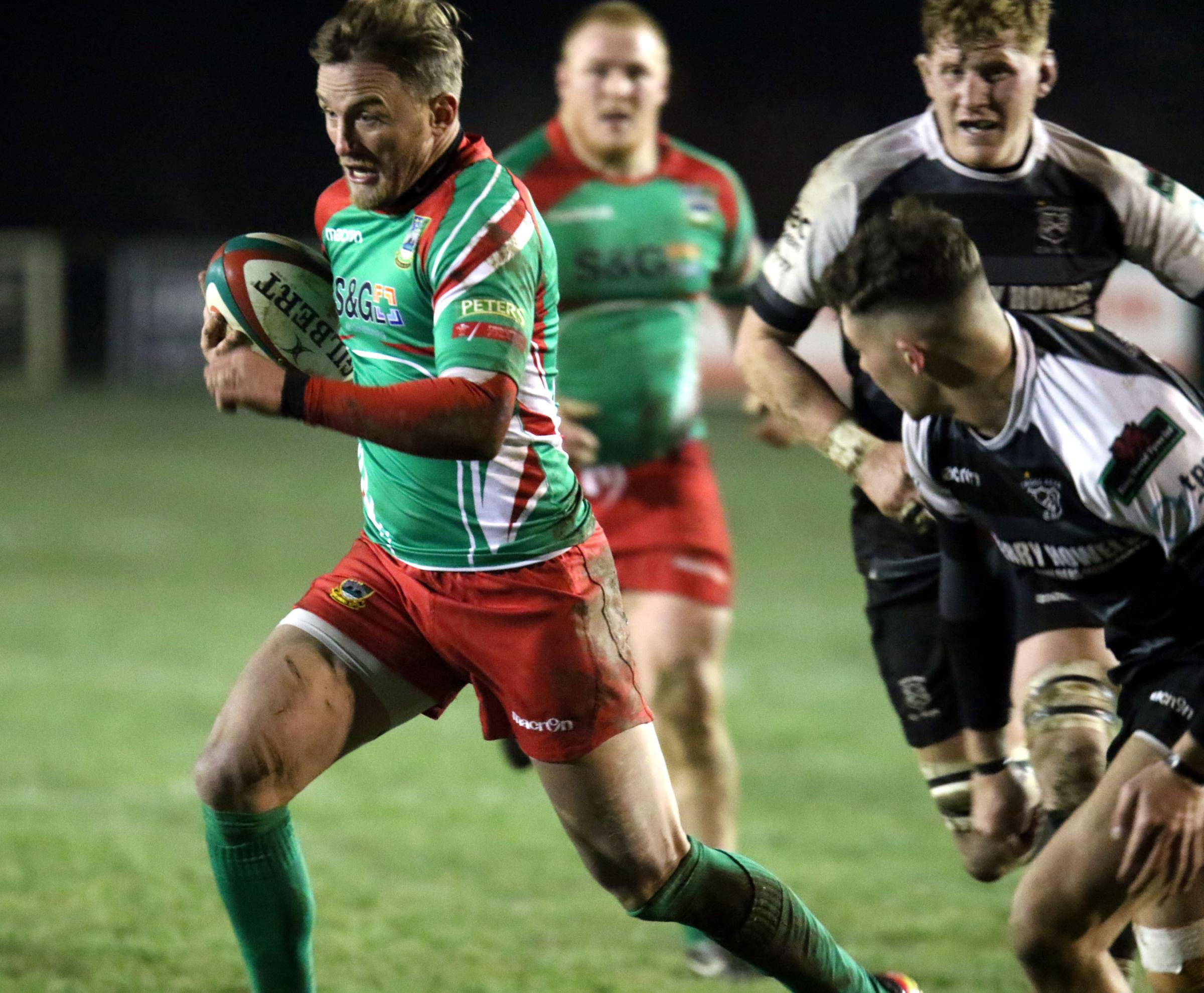 ON THE ATTACK: Bedwas' Aaron Bramwell (Picture: IAN LOVELL)