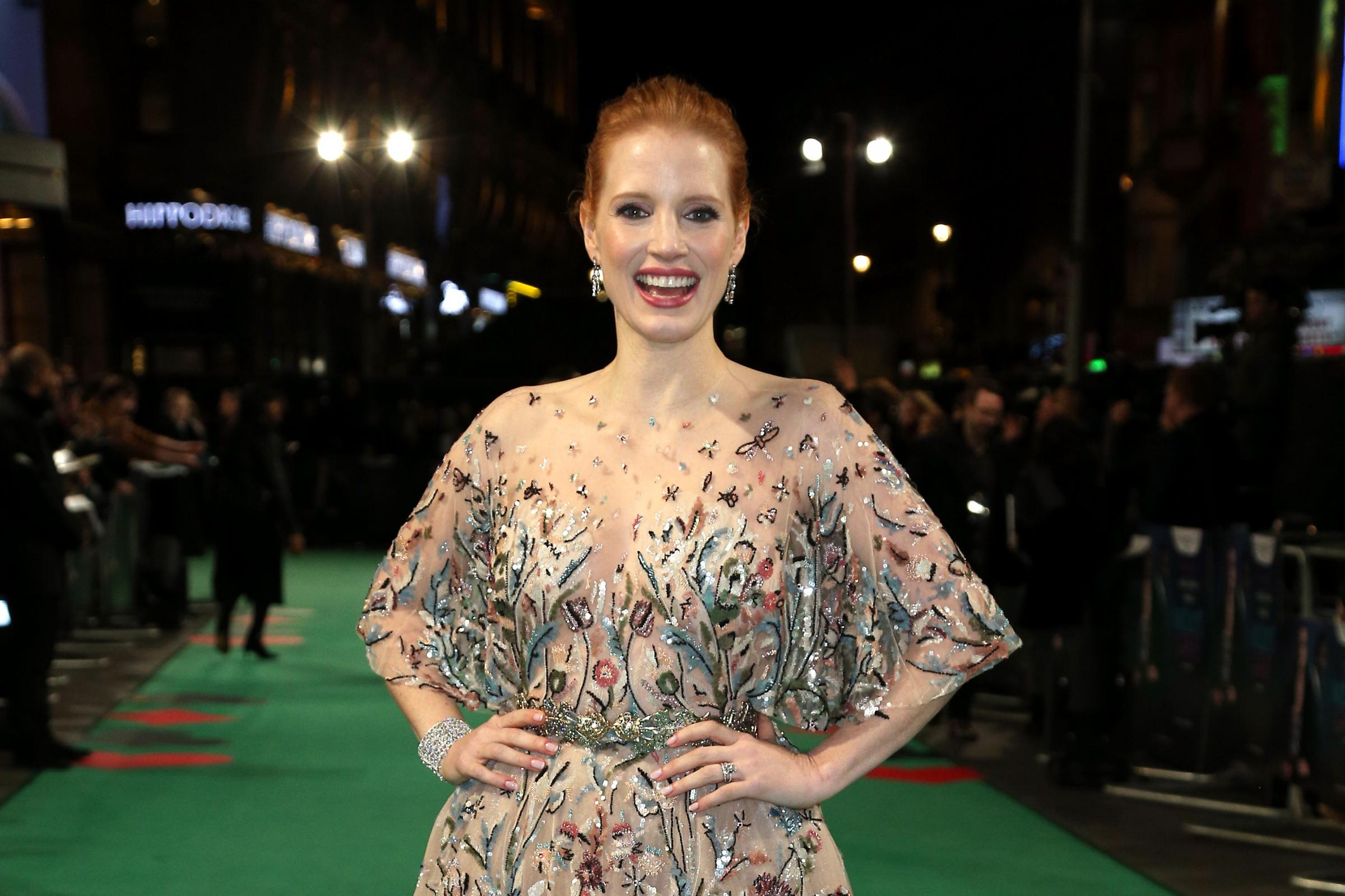 Jessica Chastain attending the UK premiere of Molly's Game at Vue West End, Leicester Square, London (PA)