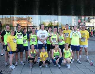 Church Village bypass builders raised money by doing  the Great Welsh Run