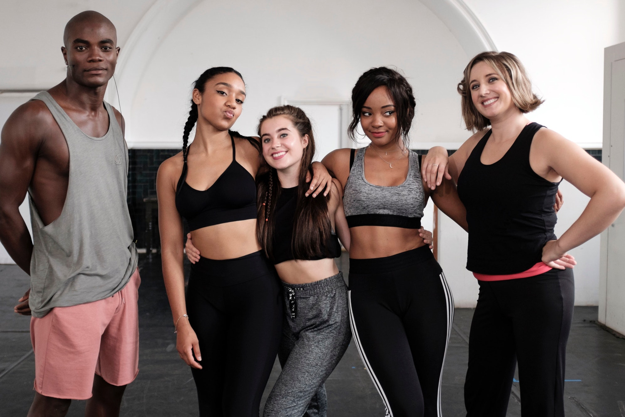 Maxine with her proteges in Wannabe (BBC/Ben Murray)