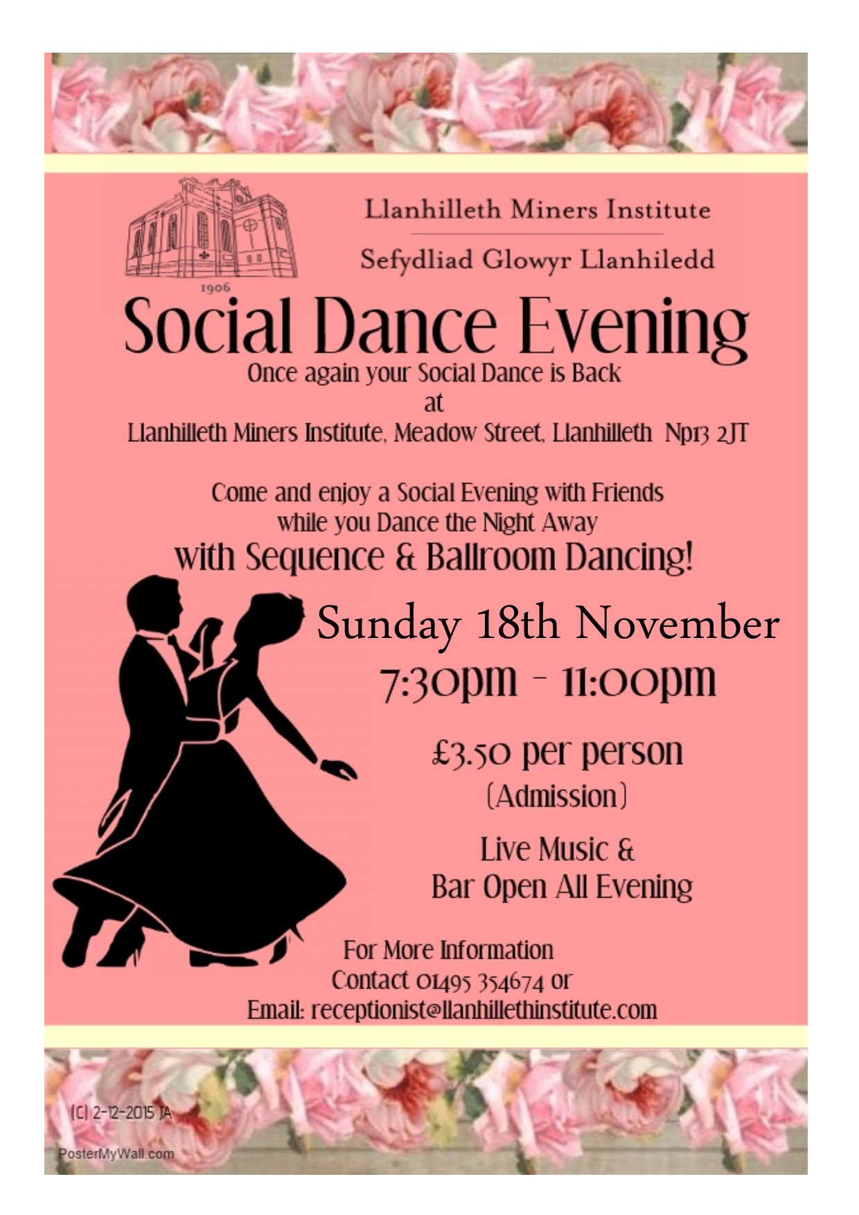 Monthly Sunday Evening Social Dance