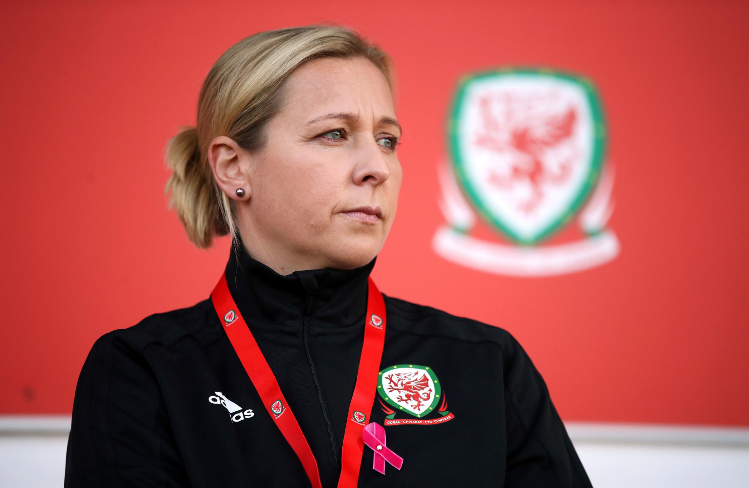 BELIEF: Wales women's manager Jayne Ludlow is upbeat despite watching her side lose to England at Rodney Parade