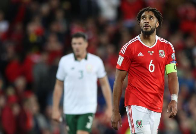 FLASHBACK: Wales captain Ashley Williams looks dejected during last year's World Cup qualifying defeat to Ireland