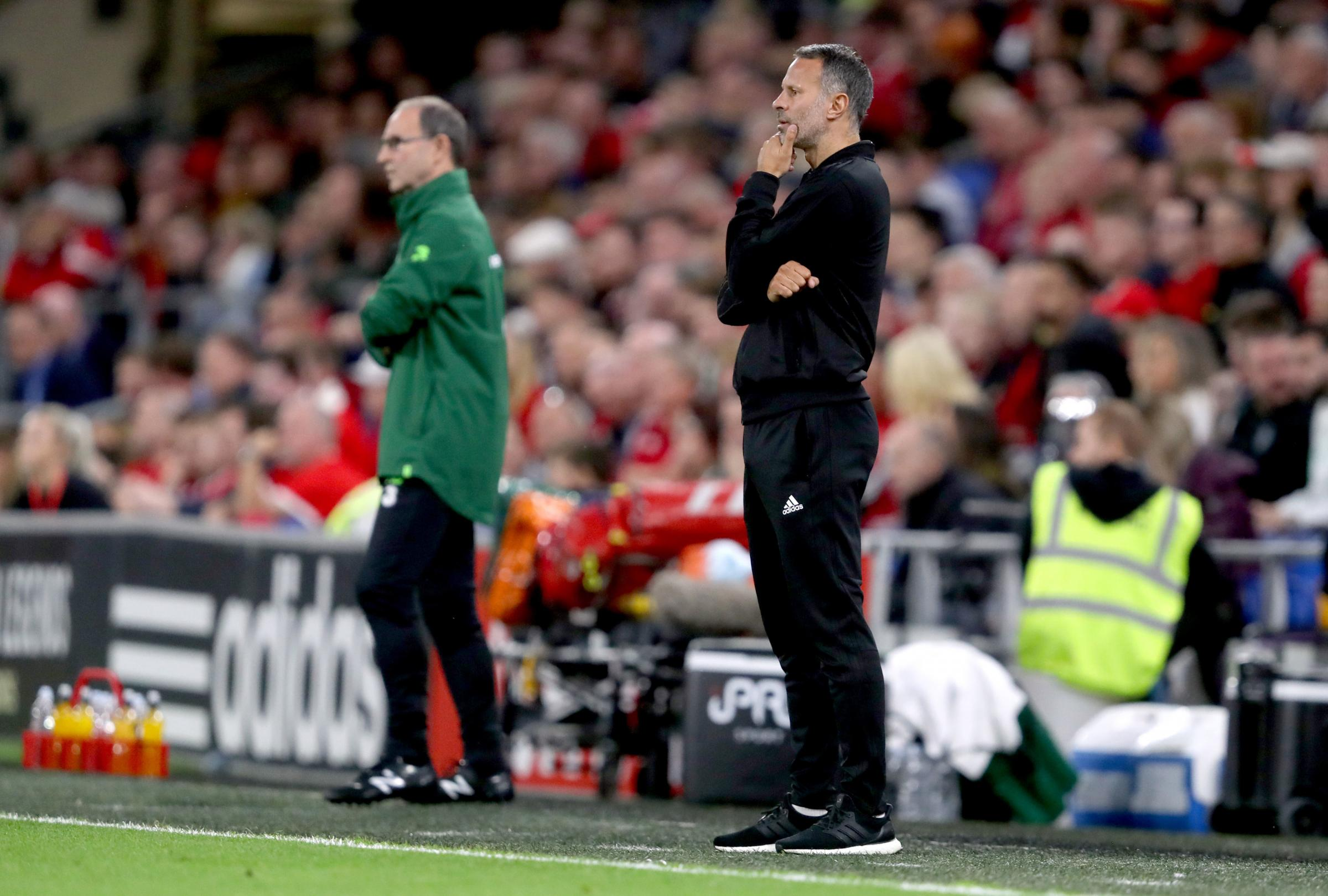 BATTLE: Wales boss Ryan Giggs, right, saw his side beat Martin O'Neill's Ireland in their UEFA Nations League opener