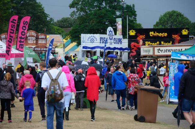 Crowds at this year's Big Cheese event in Caerphilly. Picture: Mark Lewis