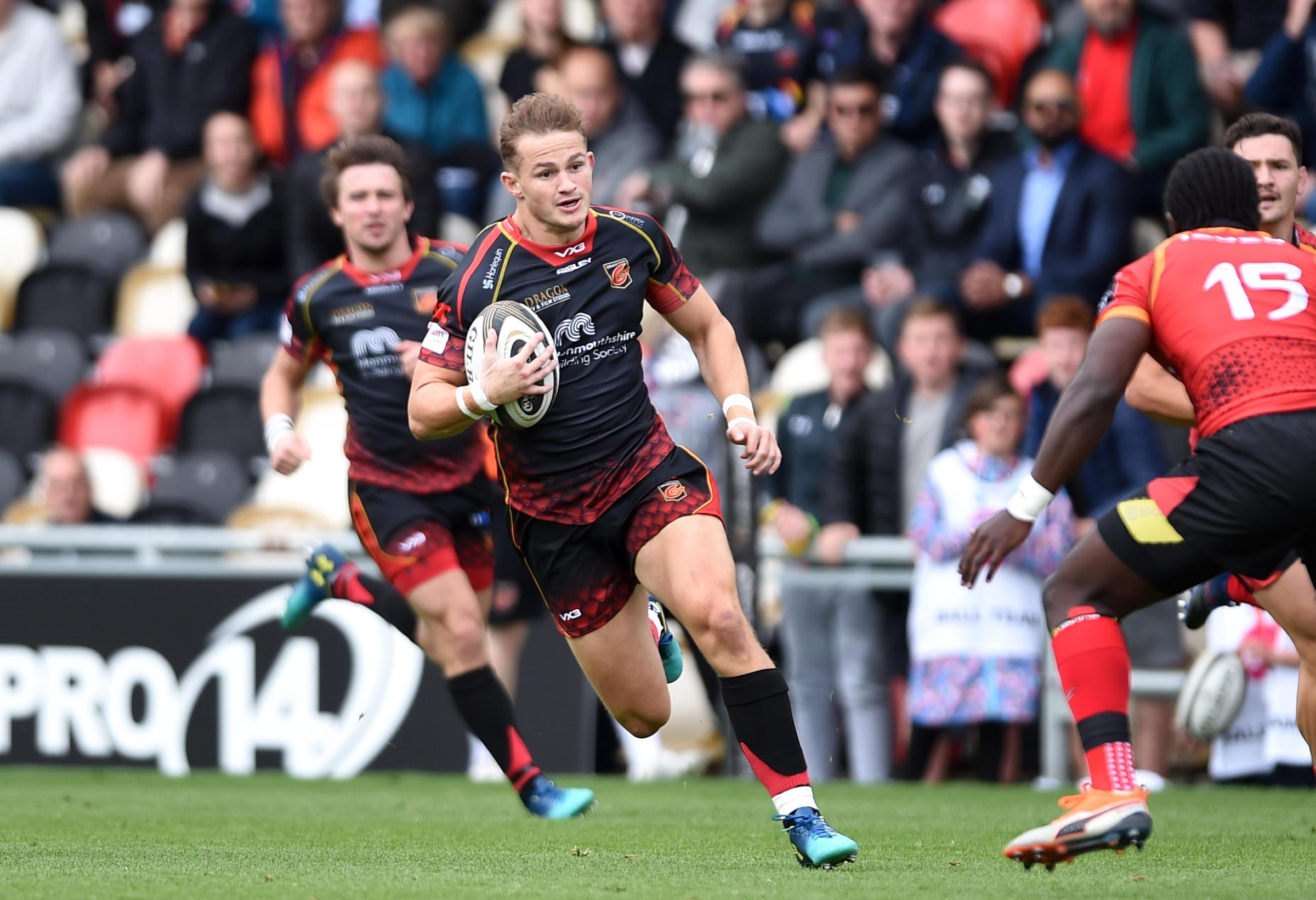 FRUSTRATED: Dragons wing Hallam Amos